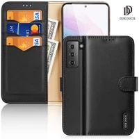 for samsung galaxy s21 fe s21 plus s21 ultra dux ducis hivo series flip cover luxury leather wallet case steady stand cards slot