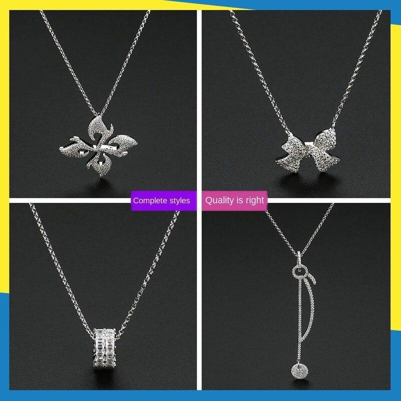 2020 novo arco diamante colar ins vento camisola corrente magnólia vintage clavícula corrente feminina marca jóias