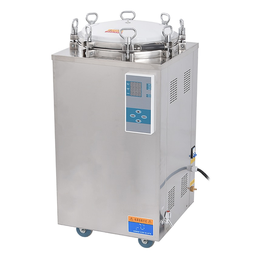 75L 4.5KW Stainless Steel Sterilization Pressure Steam Sterilizer Automatic Disinfecting Cabinet For Surgical Medical LS-75LD