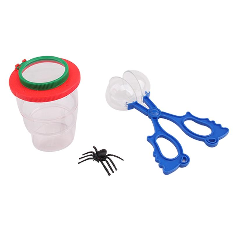 1 ud. Pinzas de plástico para atrapar insectos y insectos pinzas para niños herramientas prácticas de juguete para niños