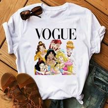 Maycaur Vogue Harajuku Women Tshirts Fashion Thin Section T Shirt Casual Princess Printed T-shirt Leisure Tshirt Camisetas Mujer