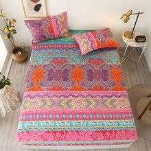 Draps housse élastiques linge de lit bohème couvre-lit couvre-lit ensemble de literie pour la décoration de la maison draps de lit et taie doreiller textiles de maison