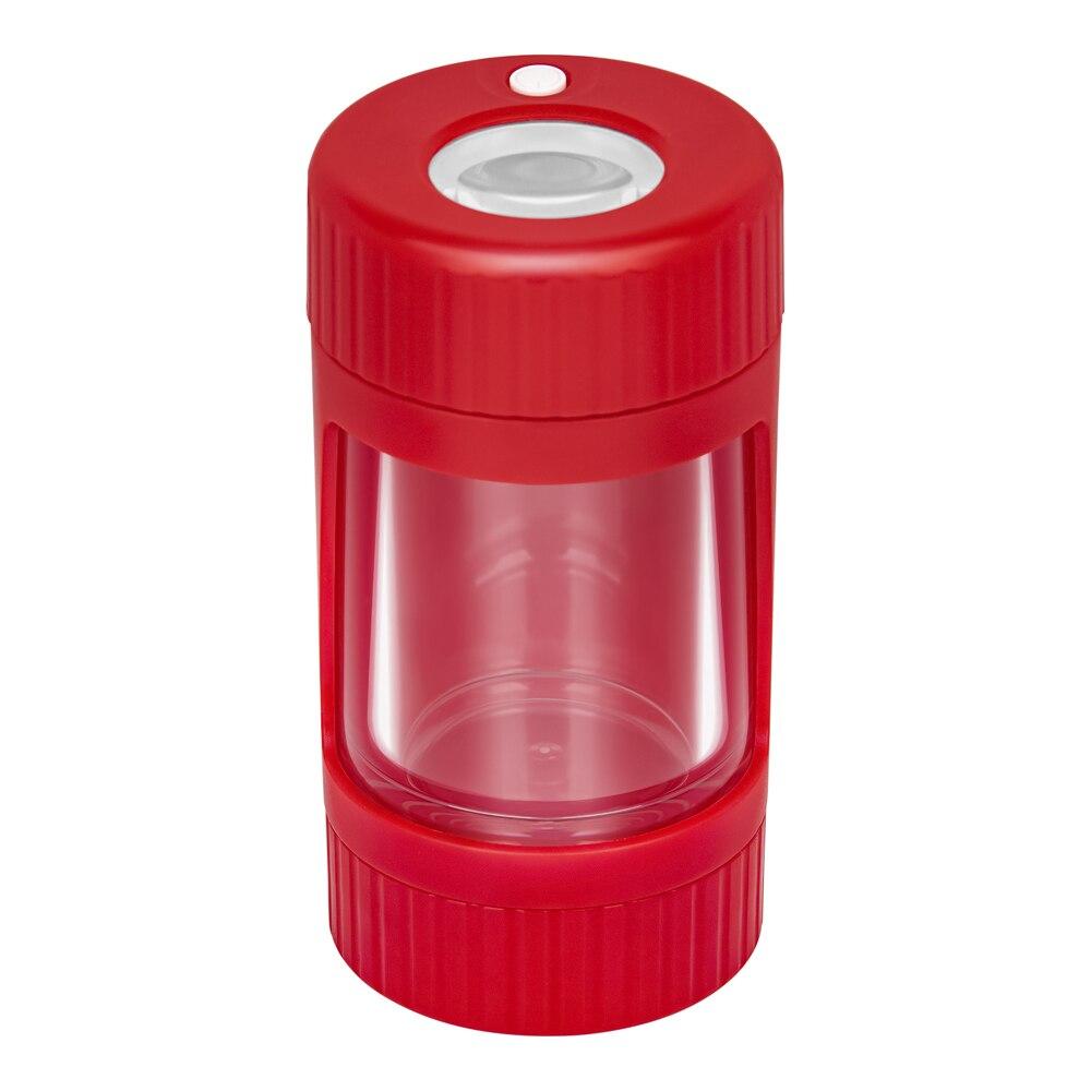 NEWEST LED Tobacco Jay Weed Storage Tank Transparent Sealed Herbal Storage Boxes Magnifying With Lid Grinder Smoking Accessories enlarge