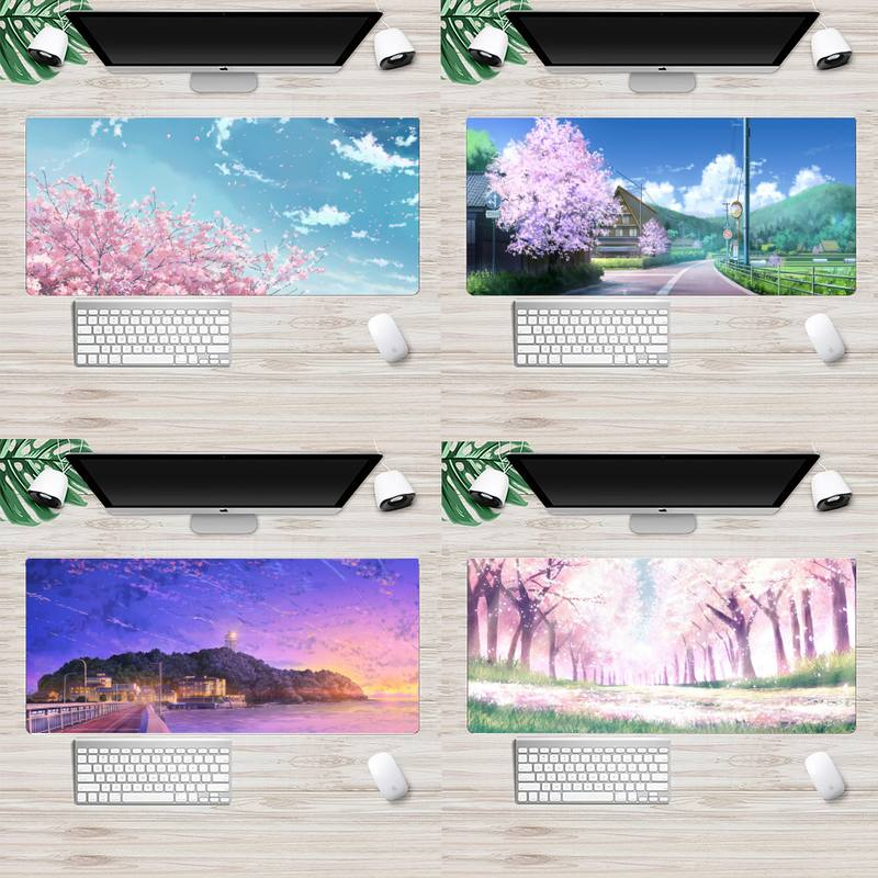 Candy color anime landscape Large Mouse pad PC Computer mat Animation XL Large Soft Keyboard PC Desk Mat Takuo Computer Tablet