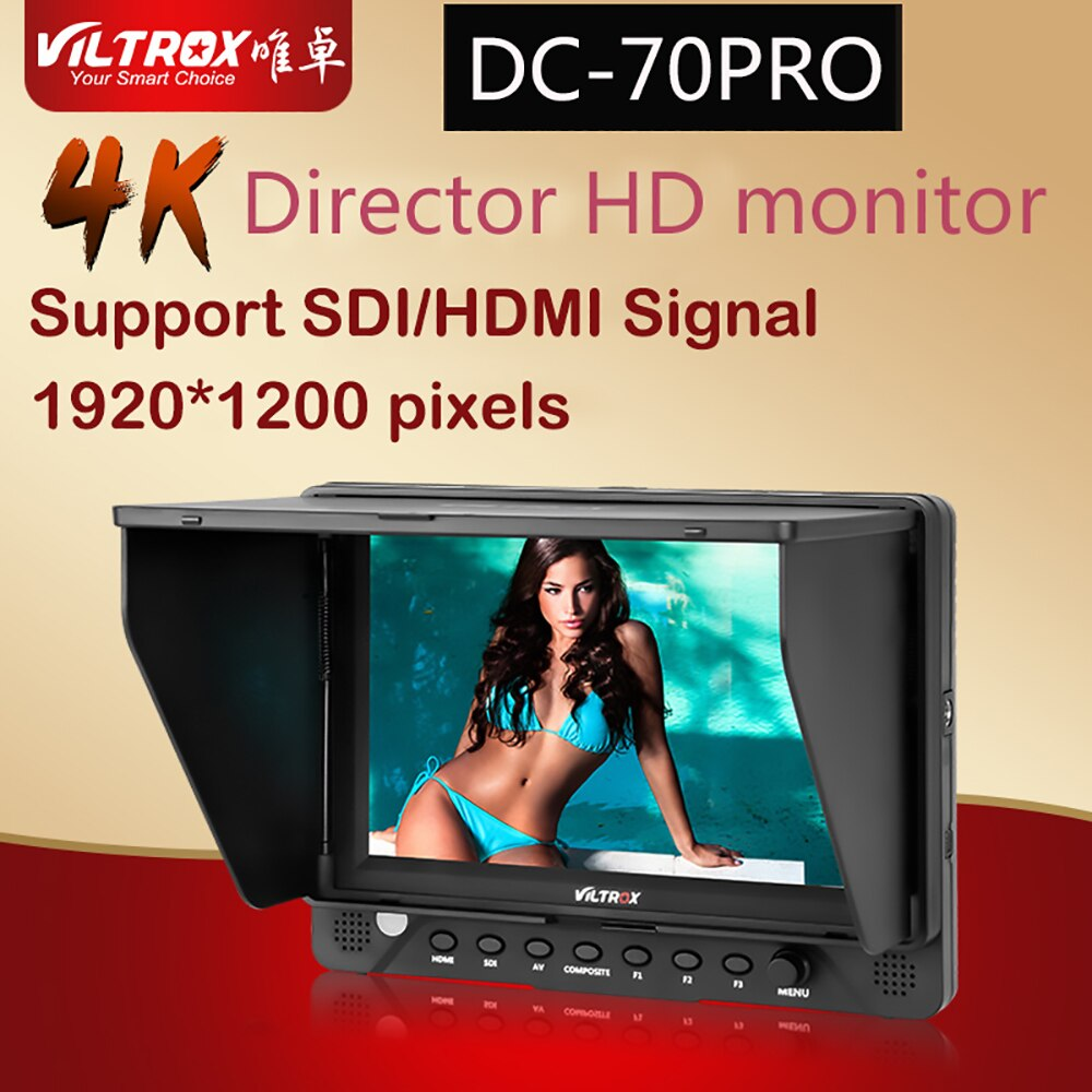 Viltrox-شاشة فيديو ، فيديو hd ، 4k ، 7 بوصة ، ips ، sdi/hdmi ، av 1920x1200 ، لكانون ، نيكون ، sony، كاميرا فيديو