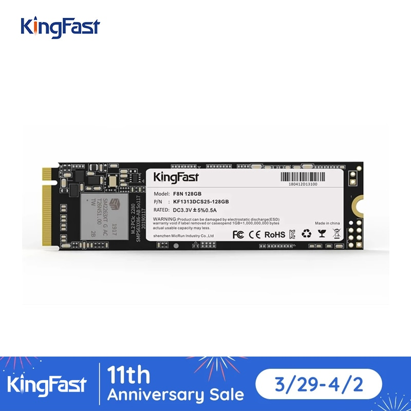 KingFast SSD m2 NVME 128GB 256GB 512GB 1TB Solid State Drive M.2 SSD NVME PCIE 2280 Internal Hard Disk HDD for Laptop Desktop