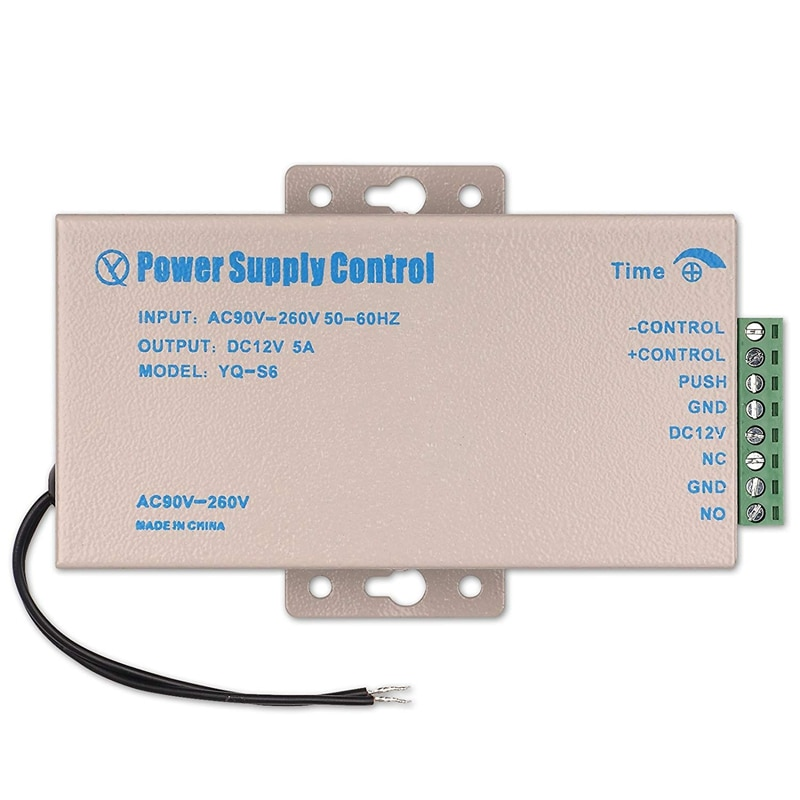 Fuente de alimentación con Control de acceso cc 5a 12V CA 90-260V para el sistema de seguridad de la Oficina del hogar cerradura de puerta eléctrica