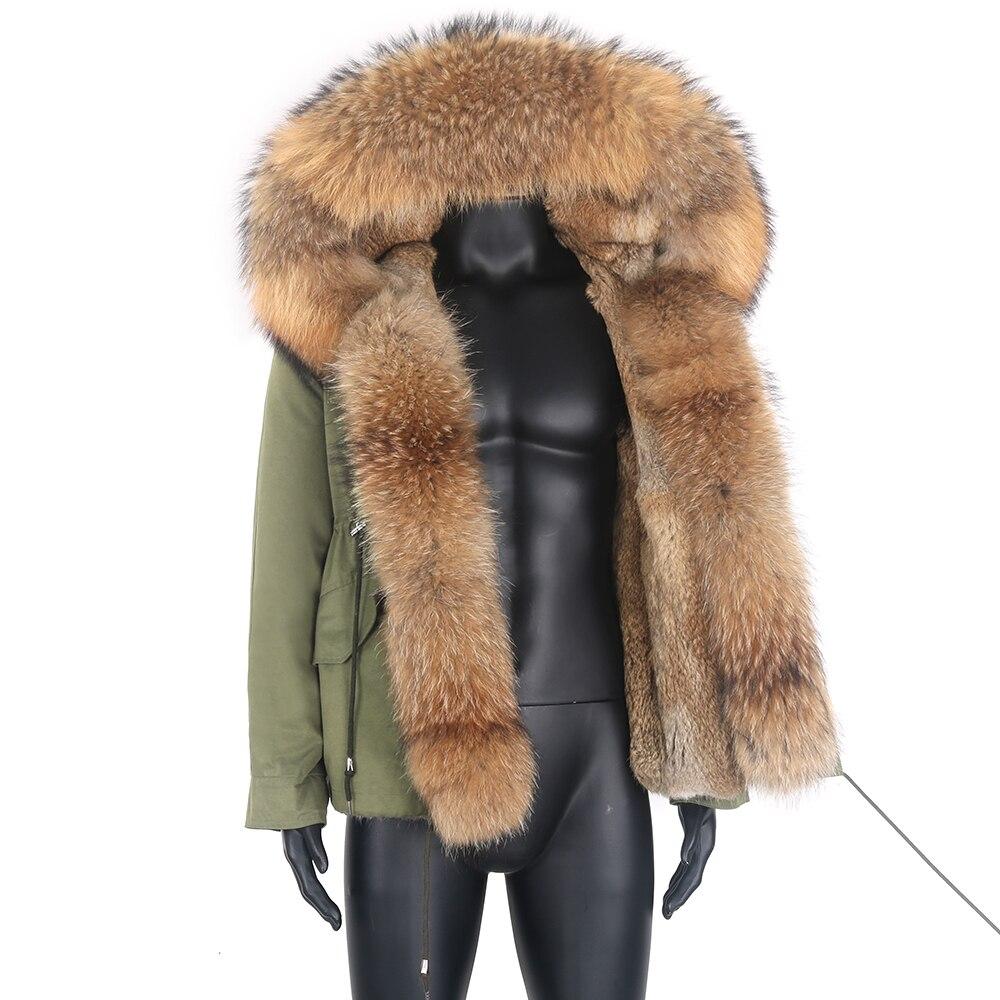 جديد 2021 ملابس الرجال الشتوية معطف فرو الارنب الحقيقي سترة الرجل طول منتظم معطف كبير الحجم ملابس خارجية كبيرة الحجم
