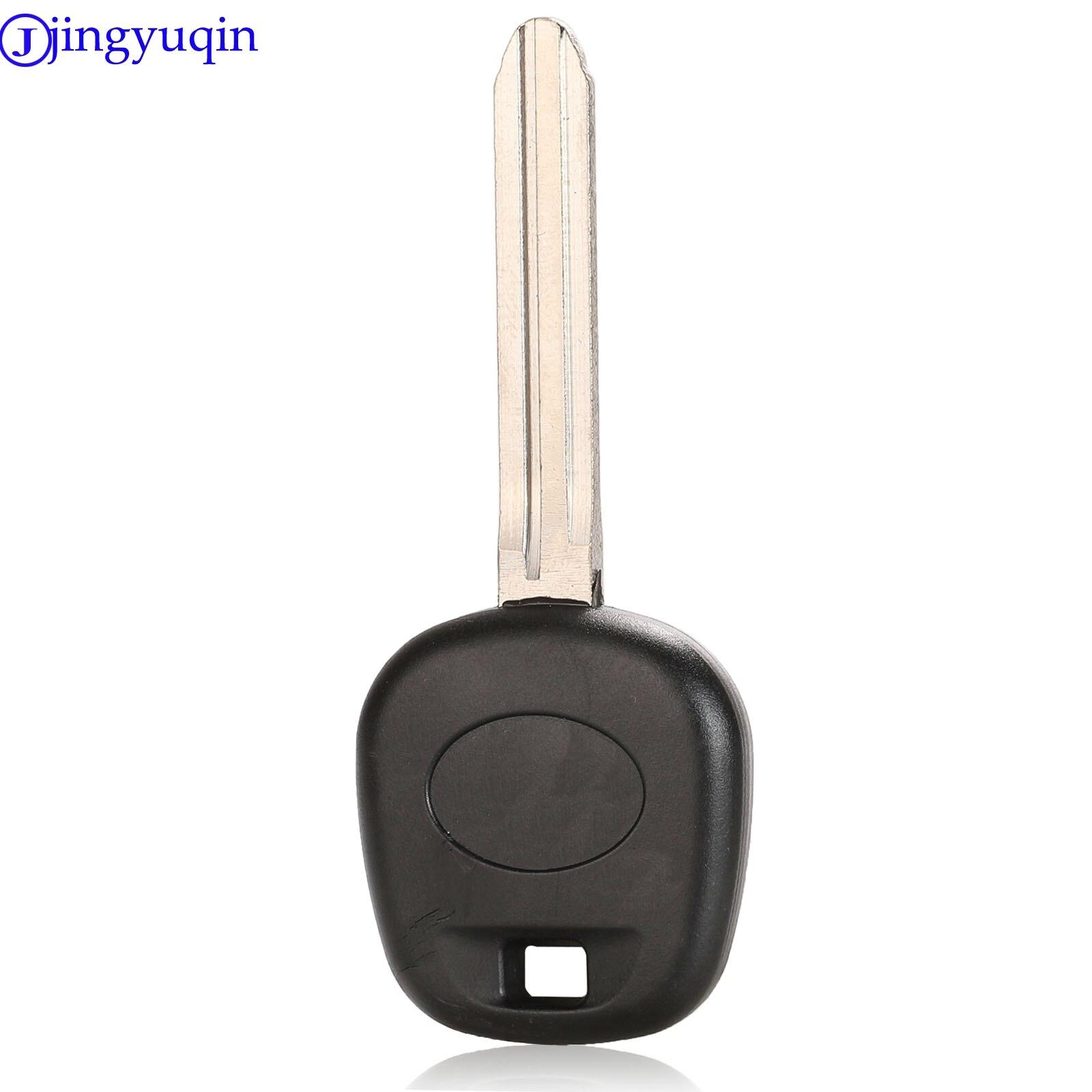 jingyuqin Transponder Blank Key Shell For Toyota Rav4 Prado Corolla Camry Reiz Highlander Yaris Corolla With TOY43 Blade