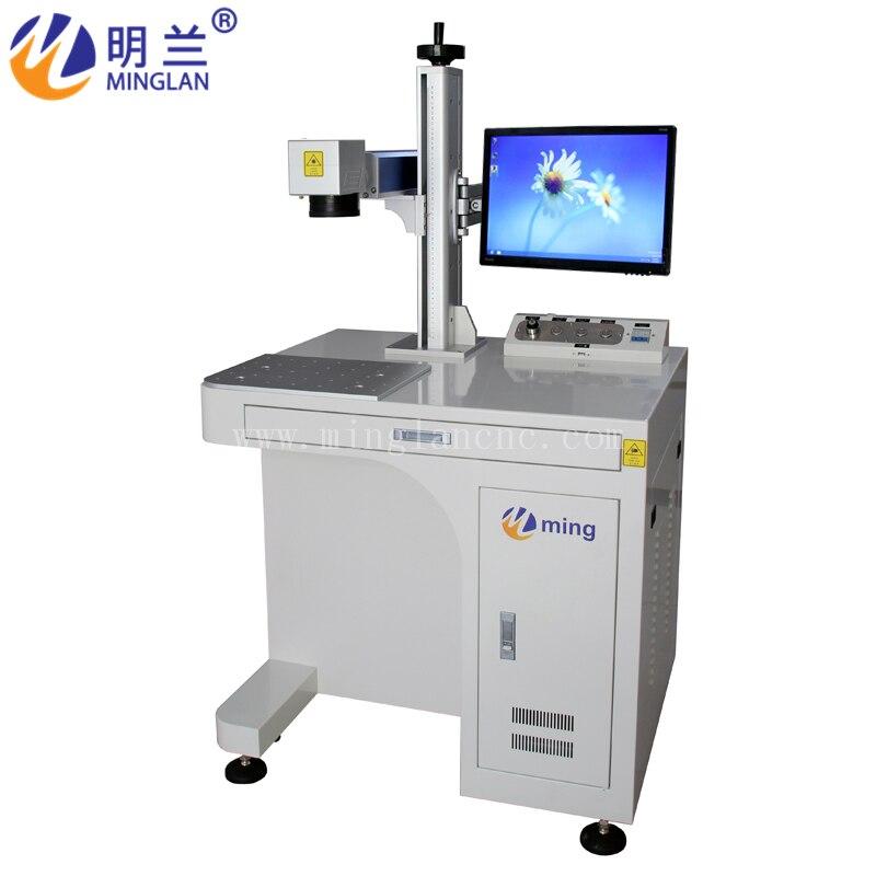 2020 de alta calidad de fibra-marcado láser-mesa de escritorio de máquina de 30W para metal y no metálico
