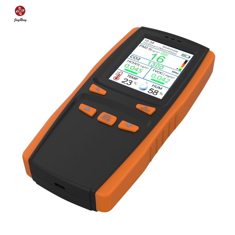 Home Hand-held Air Quality Detector Detects Carbon Dioxide, Dust, Pm2.5 And Formaldehyde Hcho