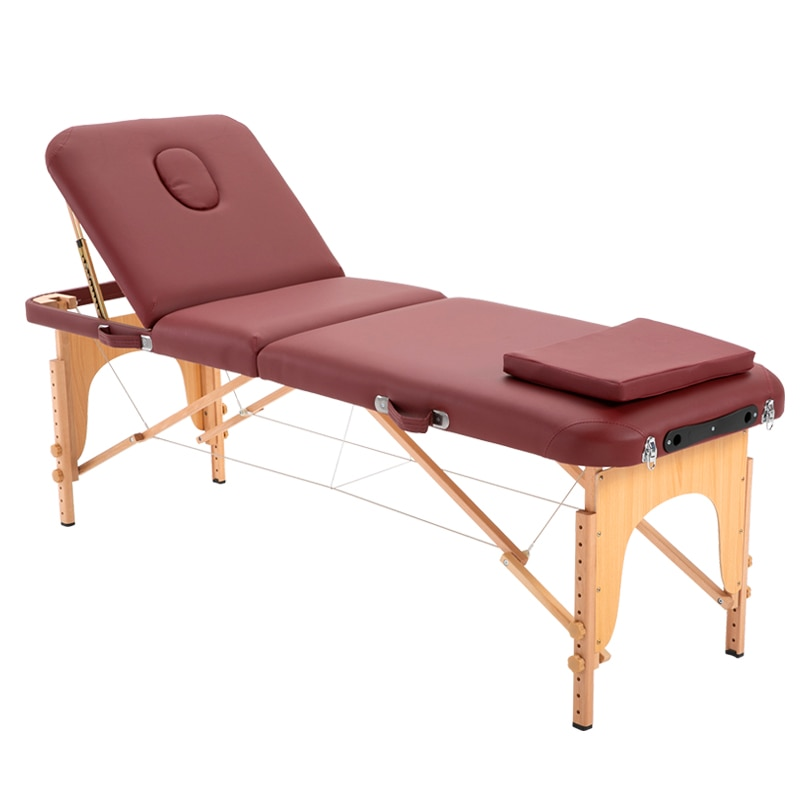 Folding massage table Massage Bed 3 Fold   massage bed massage table table massage Massage chair Eyelashes Massage table