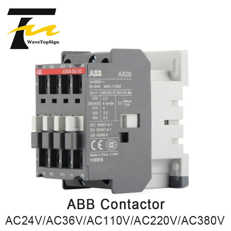 ABB Contactor AX09-30-10-80 AC24V AC36V AC110V AC220V AC380V