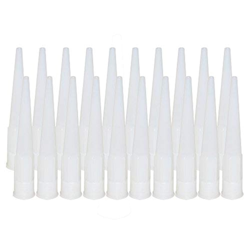20 unids/set de vidrio de plástico pegamento inyector calafateo punta pegamento estructural bocas mejora herramientas de construcción de herramientas de mano