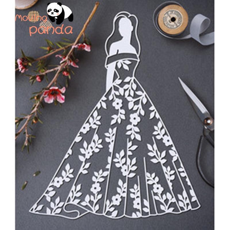 Hollow bride Metal corte troqueles flores hoja pétalo plantillas bricolaje scrapbooking decorativo Embossing DIY paid Cards Stansen Voor