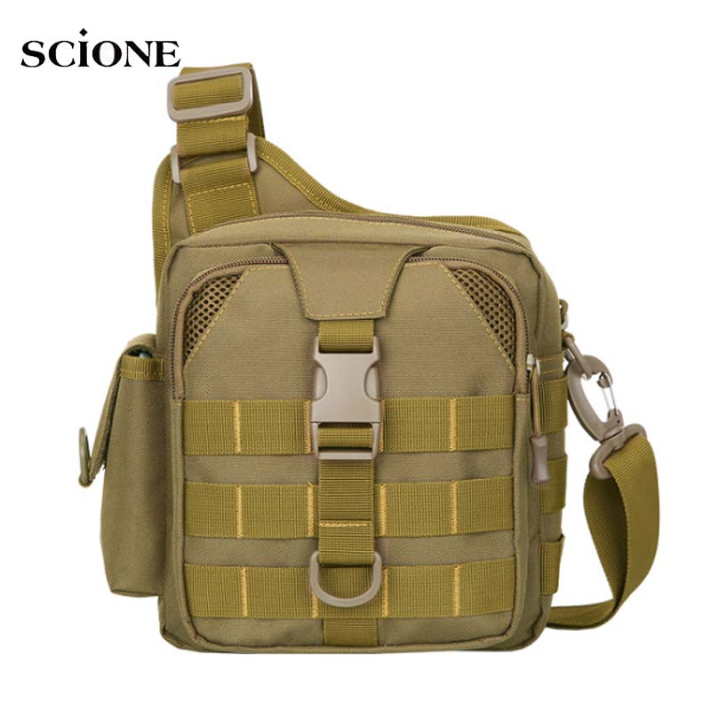 Bolsa de pecho táctica de pesca Molle Sling mochila militar hombro del ejército Camping senderismo bolsas de viaje al aire libre mochila XA180A