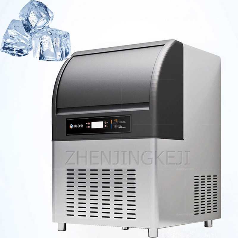 220V Commercial Ice Making Machine Fully Automatic Ice Cube Machine Coffee Milk Tea Shop Equipment Bar Fang Bing Ice Maker 446W