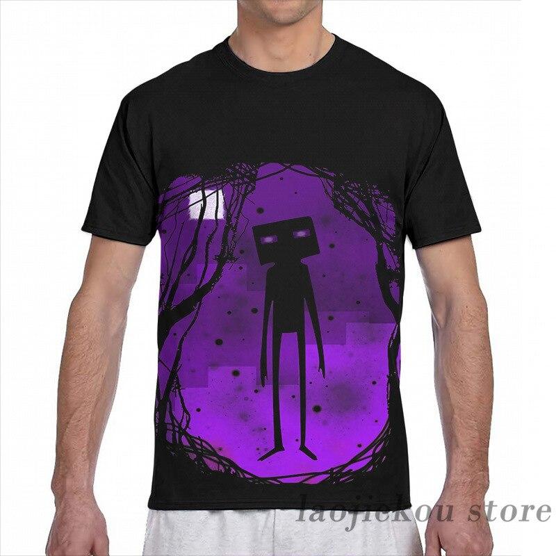 Футболка Enderman с принтом для мужчин и женщин, модный топ с коротким рукавом для мальчиков и девочек