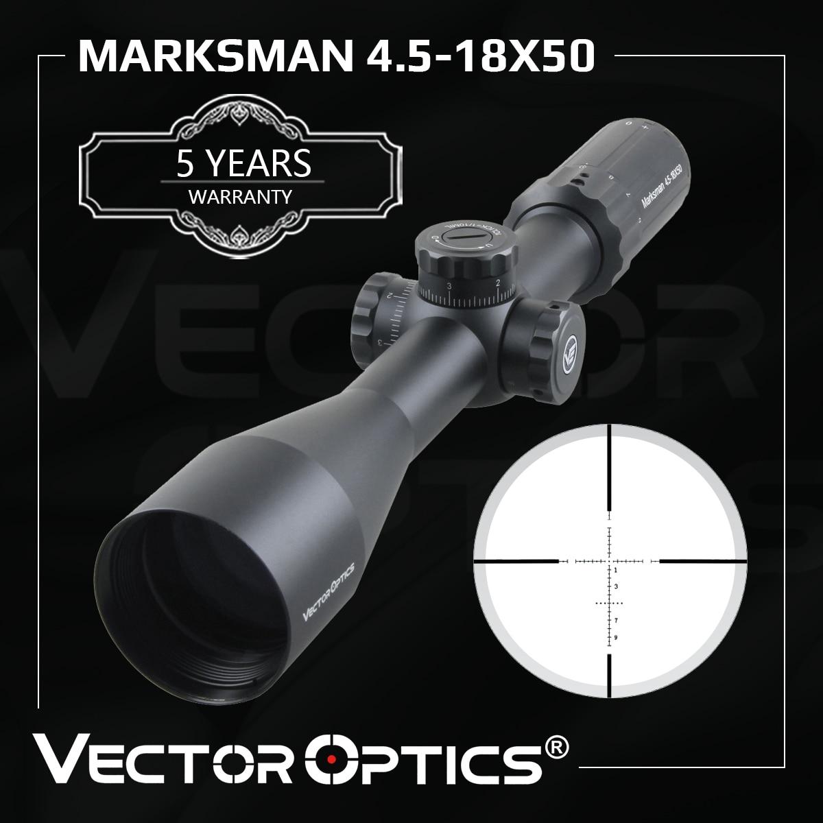 Оптический прицел Vector, стрелок 4,5-18x50, тактический прицел для винтовки, оптический прицел, замок с башней 1/10 мил, для охотничьей мишени
