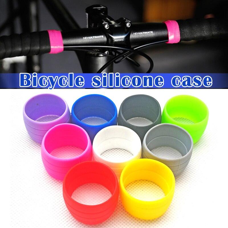 1 Pair Bike Silicone Elastic Strap Fixing Ring Anti-Skip Plugs Waterproof Wear Resistant Strap Loops for Road Bike Bar Tape