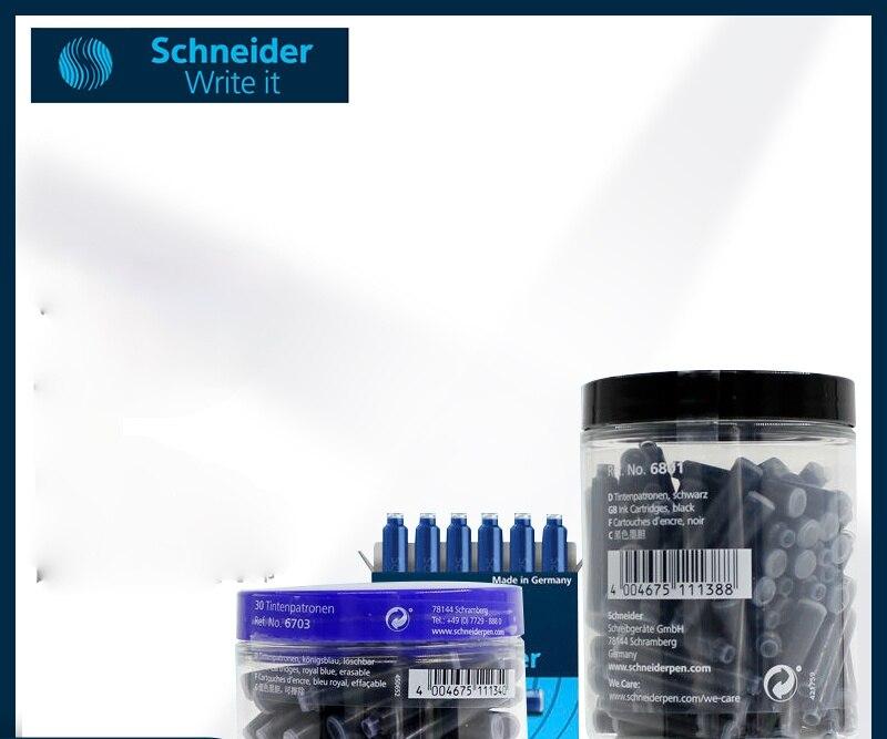 German-origin Schneider Fountain Pen Ink Sac Euro-standard Universal Ink Bile Non-carbon Black/blue/blue Black Ink Pipe