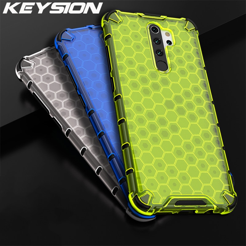 AliExpress - KEYSION Shockproof Case for OPPO A9 A5 2020 F11 Pro F9 Realme X2 Pro 5 Pro C3 Honeycomb Airbag Back Cover for Reno 4 3 Pro 2Z