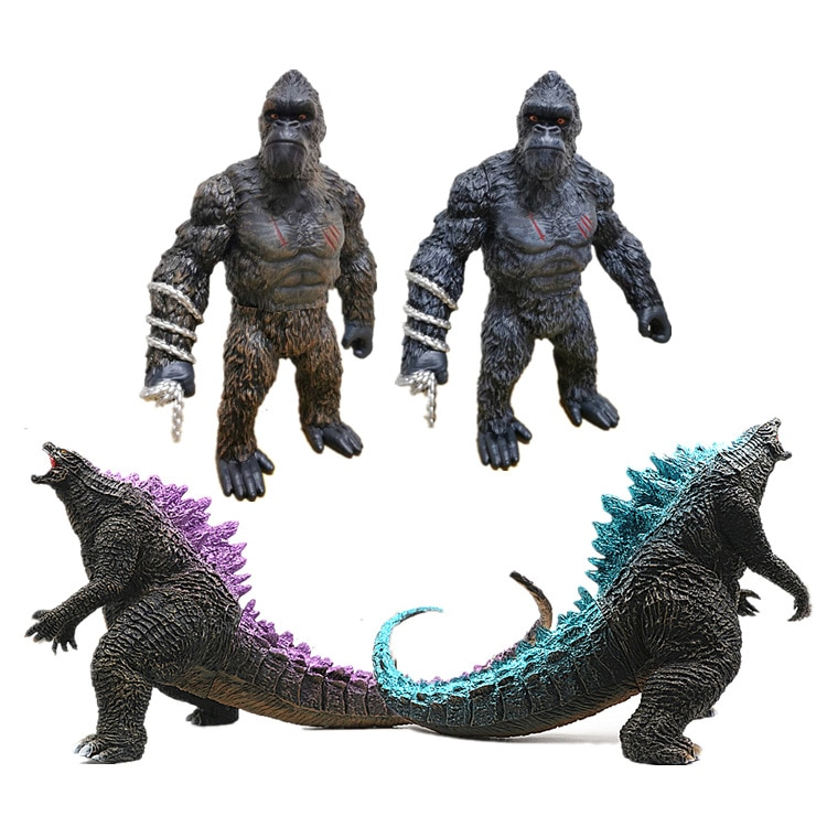Godzillas Vs King Kong Figure PVC Soft Rubber Movable Joints Lifelike Image Toy Model Decoration King of Monsters Toy Hobby Gift