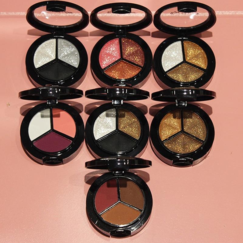 Makeup Shimmer Eyeshadow Palette 3 Colors Smoky Cosmetics Set Professional Natural Matte Eye Shadow Sleek Palette Glitter недорого