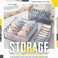 underwear storage organizer for clothes separated socks shorts bra storage boxs dormitory closet organizer drawer washable