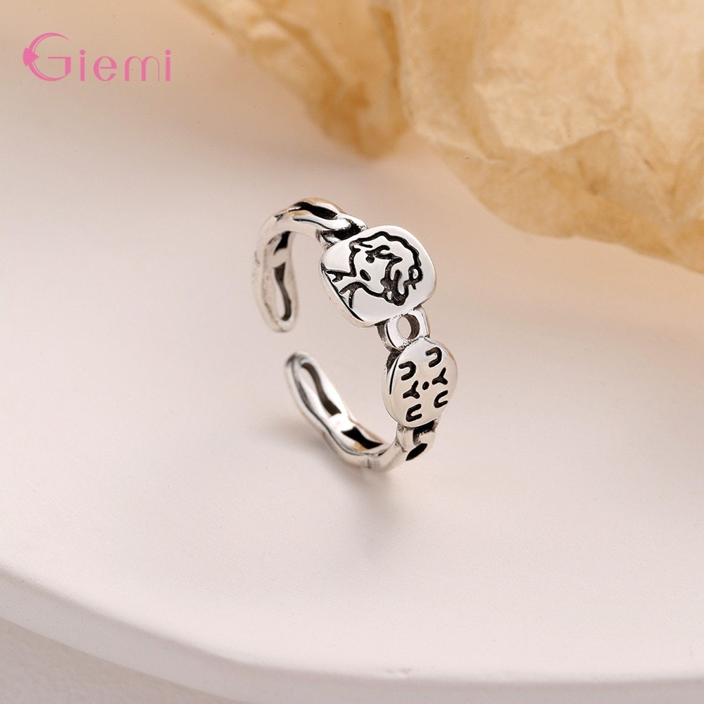 New Arrivals Opening Finger Rings Jewelry Accessory Genuine 925 Sterling Silver Adjustable Rings For Women