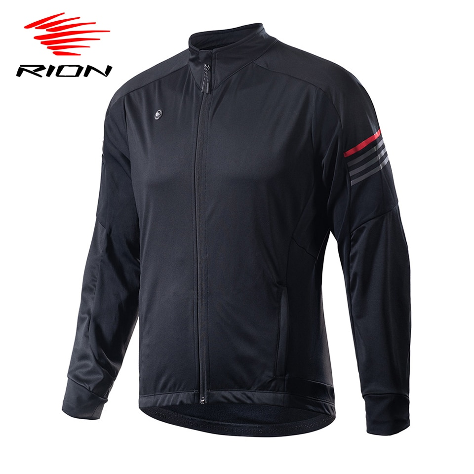 RION Winter Men Cycling Jersey Cycling Clothing Man Fleece Thermal Cycling Jacket Coat Autumn Bicycle Clothing MTB Bike Jersey