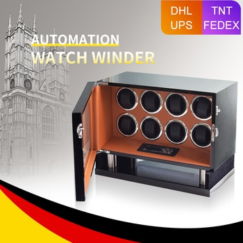 MELANCY High Quality Watch Winder for Automatic 8 Slot Watches with Mabuchi Motor LCD Touch Screen Safe Wooden Watch Box