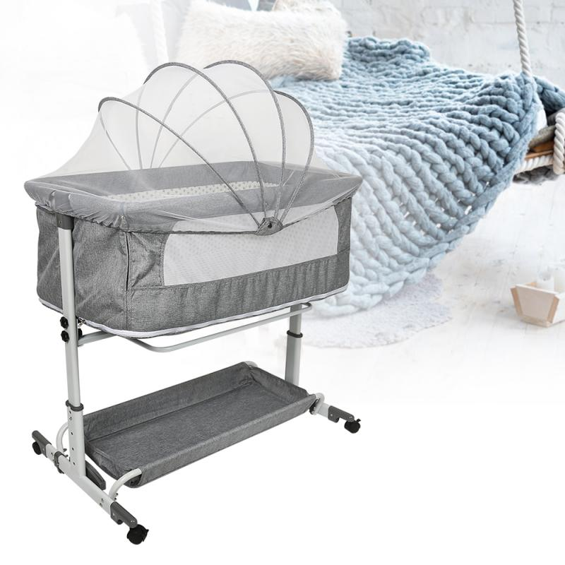 53cmX95cm Baby Nest Bed with Bed Nets Portable Crib Adjustment Bed Infant Toddler Cotton Cradle for Baby Bed Bassinet Bumper HWC
