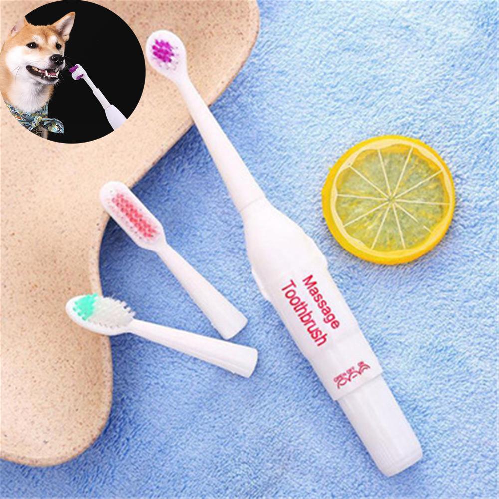 Электрическая зубная щетка для домашних питомцев массажная моляра ухода за