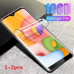 1-2 peças 100d filme protetor de hidrogel, para samsung galaxy a01, samsung, samsung, galaxy ax a 01, protetor filme de hidrogel SM-A015F,