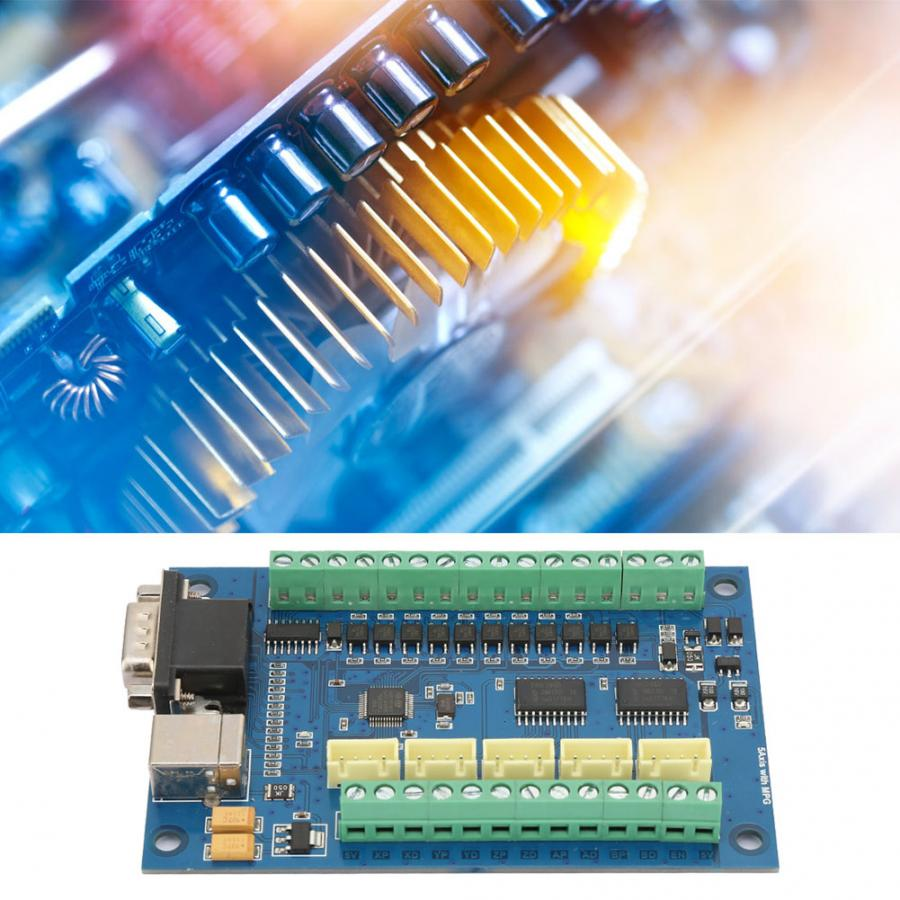 USB 5 осей 100K контрольная карта для Mach3 + 3 шт TB6600 драйвер платы CNC Motion control