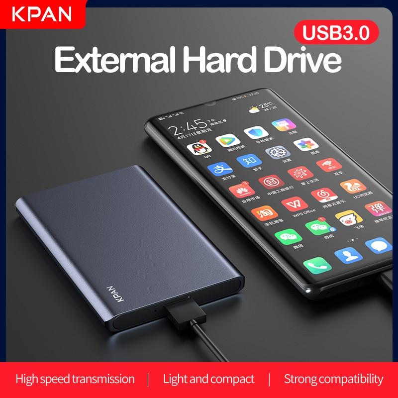 "Original KPAN 2.5"" Metal Case Black External Hard Disk Drive 1TB 2TB HDD 500GB USB3.0 Storage Devicefor PC, Mac, XBOX ONE, PS4/5"