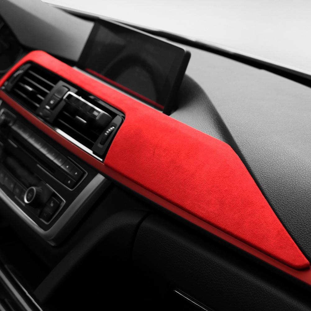 Car Dashboard Decoration Suede Interior Panel Trim Cover Stickers Decor For BMW F30 F31 F32 F34 F36 3GT 3 4 Series 2013-2019 enlarge