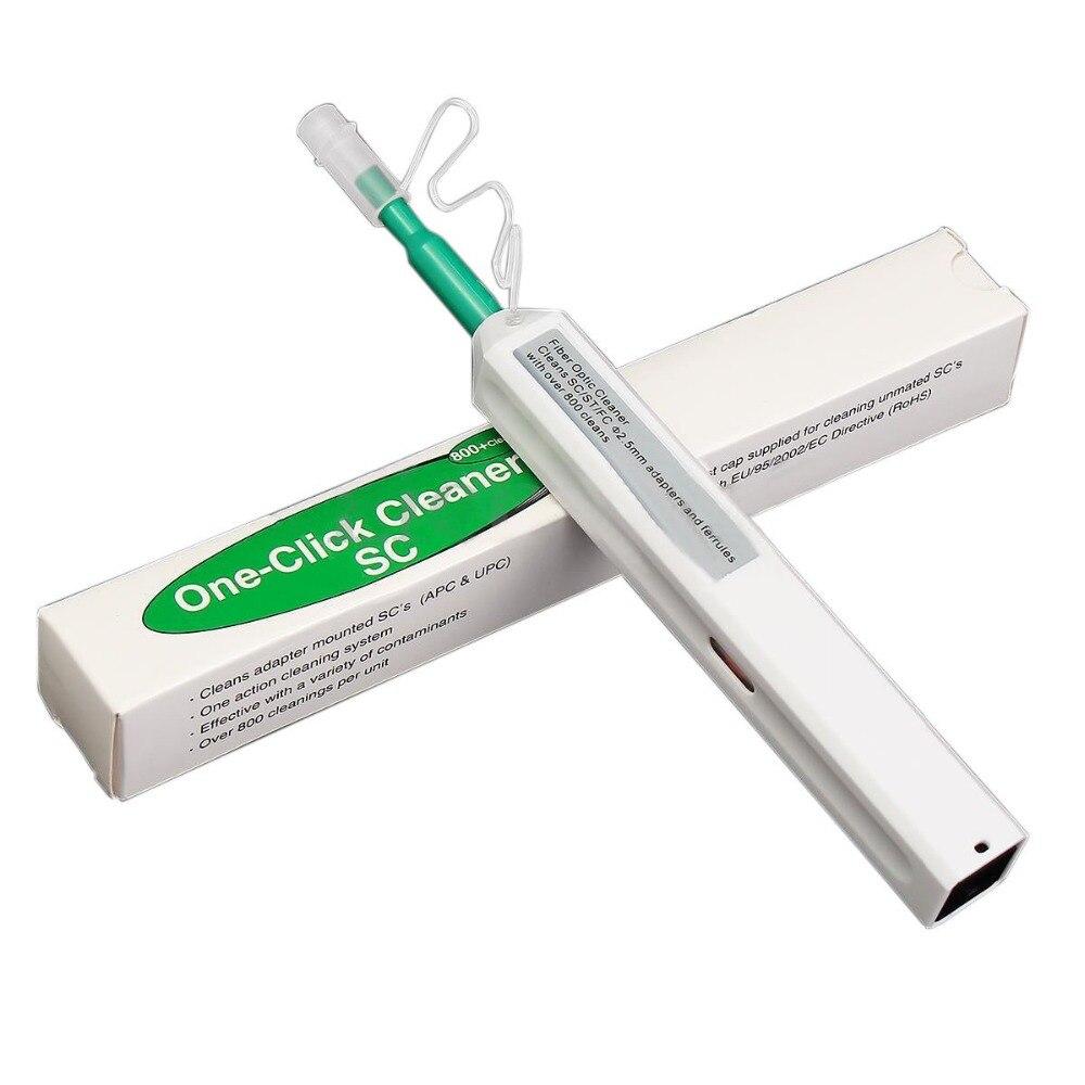 10 шт./лот Промотирование SC/FC/ST один клик очиститель инструмент 2,5 мм волоконно-оптическая чистящая ручка 800 очищает волоконно-оптический очи...