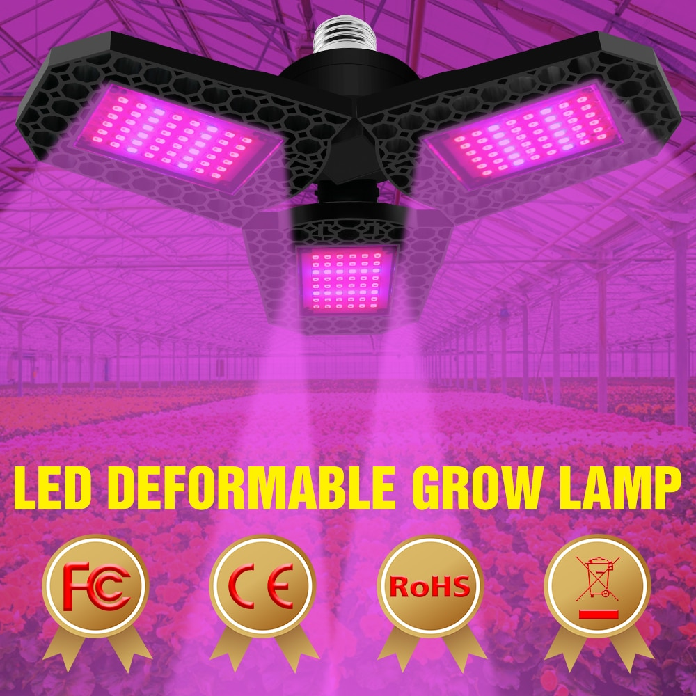 220V LED Full Spectrum Phytolamps E27 Plant Growth Light 40W 60W 80W Grow Plants Lamp E26 Grow Tent Hydroponics Lamp  Greenhouse greenhouse led grow light e27 15w 21w 27w 36w 45w 54w led grow lamp for plants flower plant orchids seedlings hydroponics system
