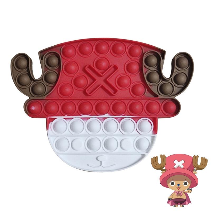 Аниме One Piece Push Bubble pop фигурки героев мультфильмов антистресс снятие тревоги сенсорные игрушки для детей подарок на Рождество