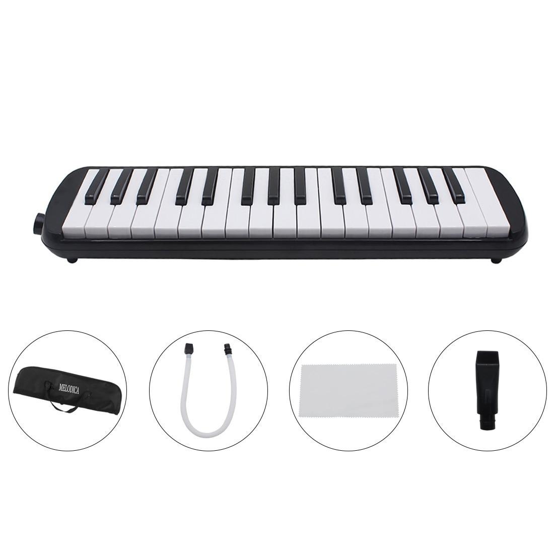 Aiersi 32 مفتاح ميلوديكا البيانو لحني لوحة المفاتيح آلة الهدايا الموسيقية مع تحمل حقيبة حزام المعبرة