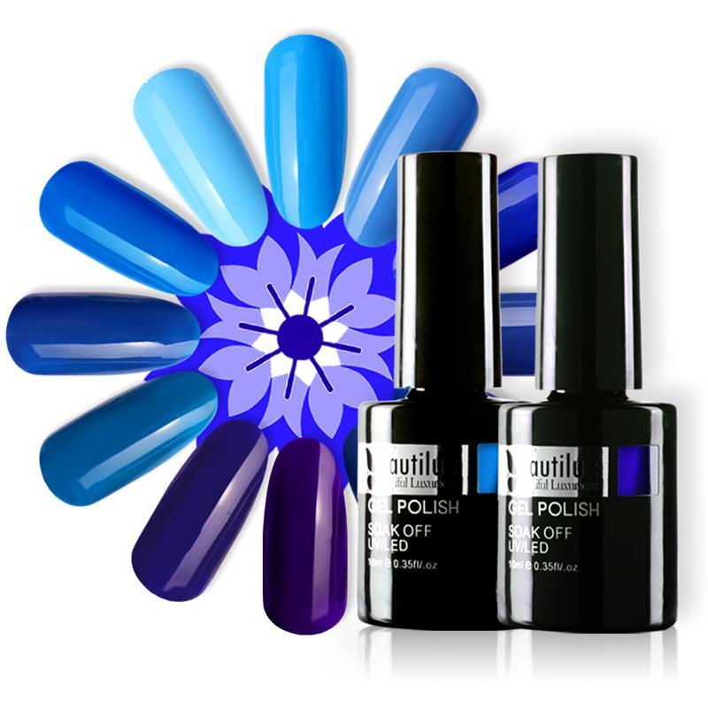 Beautilux unha gel polonês cor azul coleção géis semi permanente verniz verniz verniz verniz 10ml