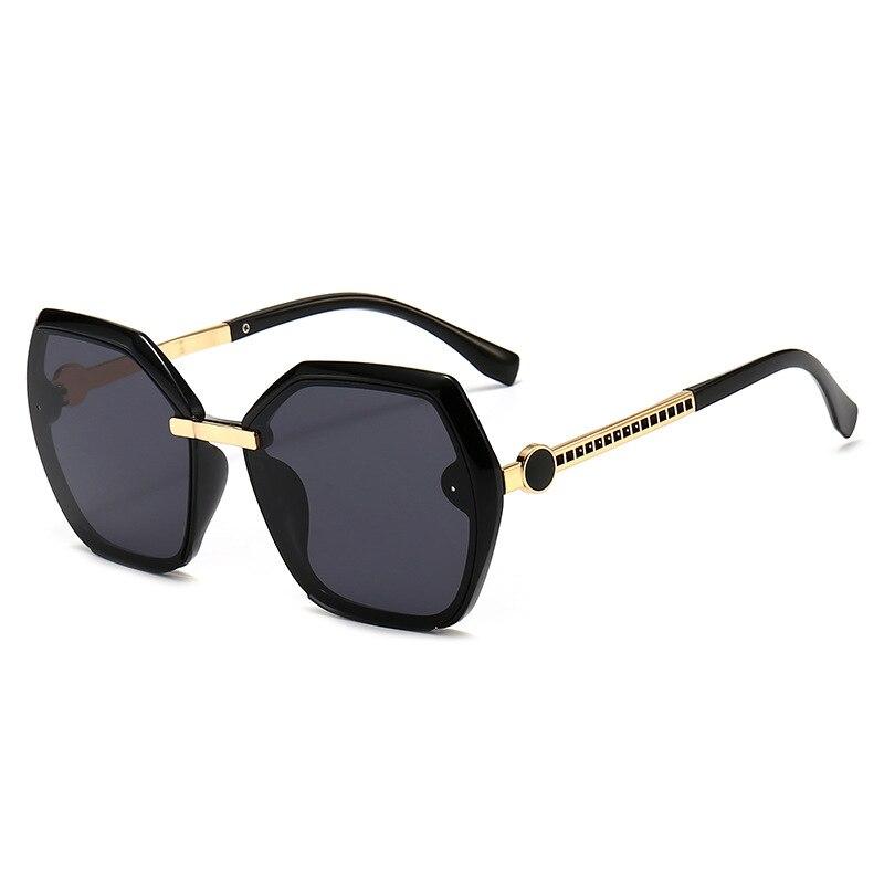 The new 2021 square sunglasses big European and American fashion joker square glasses sunglasses for