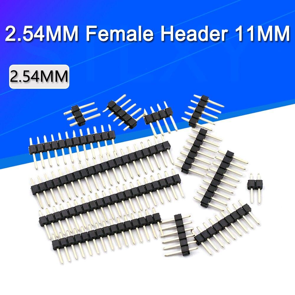 50/20/10 sztuk 2.54mm jeden rząd mężczyzna 1/2*40P płyta PCB do złącz stykowych Strip Pinheader 2/3/4/5/6/8/10/12/20/40Pin dla Arduino