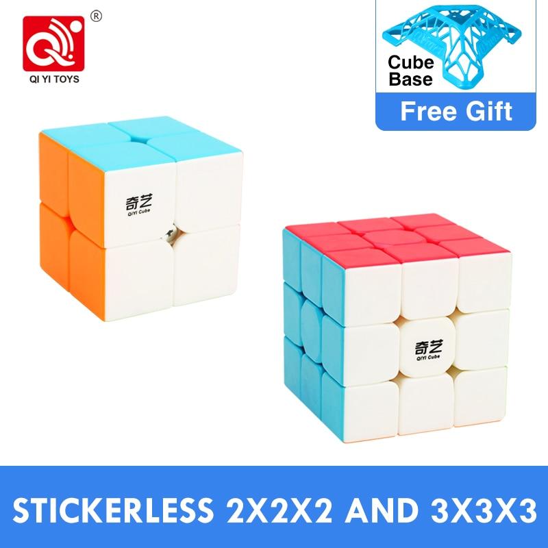 Cheapest QiYi Warrior S 3x3x3 Magic Cube Sail W Professional Qidi S 2x2x2 3x3 Speed Puzzle 2x2 Cubo Magico Educational Toys