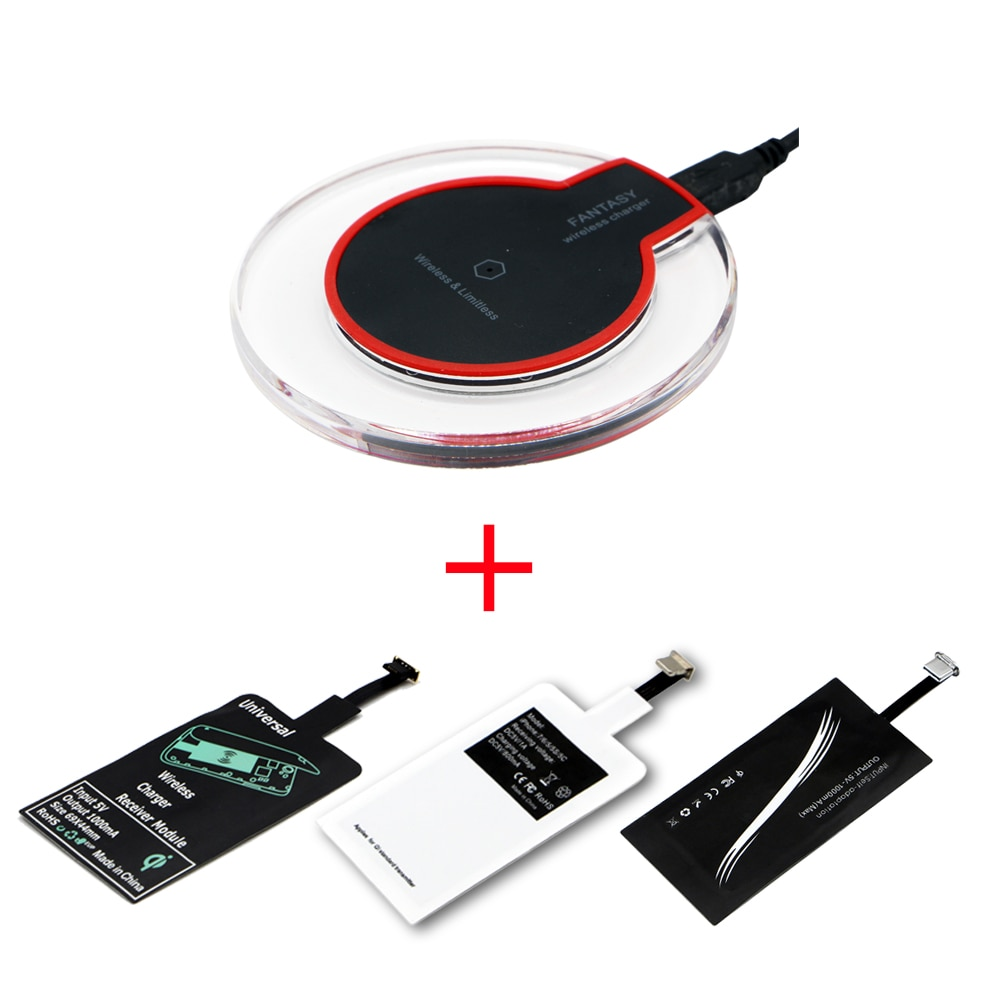 aliexpress.com - Qi Wireless Charging Kit Transmitter Charger Adapter Receptor Receiver Pad Coil  Type-C Micro USB kit for iPhone Xiaomi Huawei