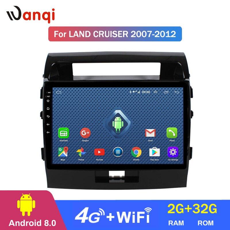 2 + 32G 4G Lte todos Netcom Android 8,0 coche DVD GPS Player 9 pulgadas para Toyota Land Cruiser 200 LC200 2007-2012 Radio de navegación