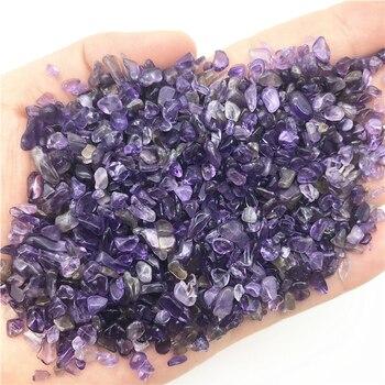 100 г 2-4 мм натуральный мини Аметист гравий кварца кристалла камень чипы Lucky целебный Природный Кварц кристаллов