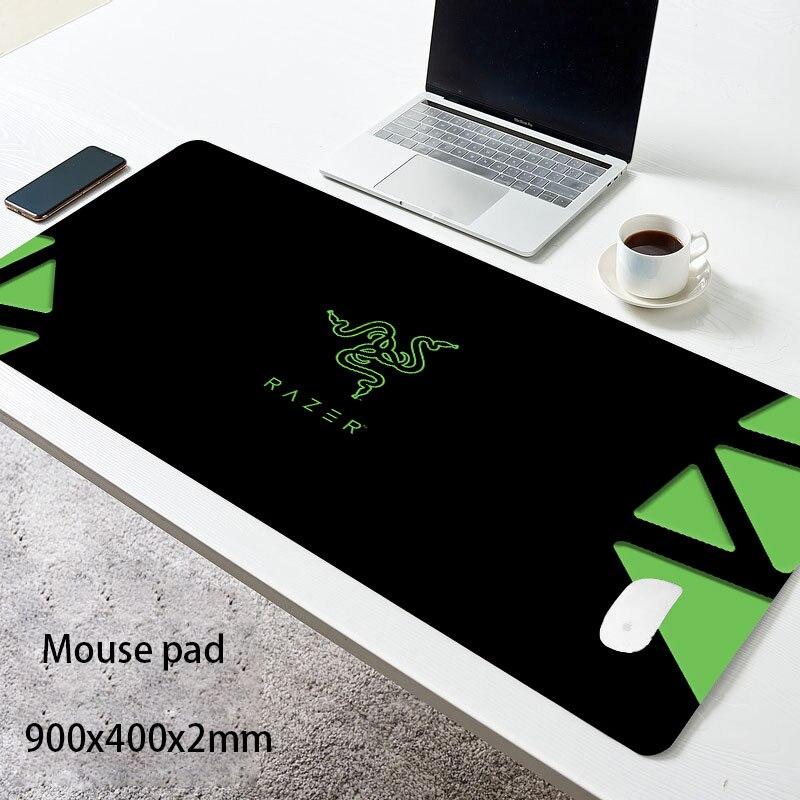 Игровой коврик для мыши Razer, коврик для мыши, игровой коврик для мыши, коврик для клавиатуры, Настольный коврик, коврик для мыши, 900x400 мм, коври...